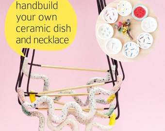 Saturday 14 April workshop: Handbuild your own dishey dish and ceramic Snazzy Jewellery 930am - 1130am