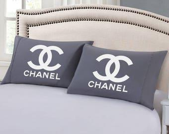 Designer Brand Inspired - Pillow Case (BLACK, GRAY, or PINK)