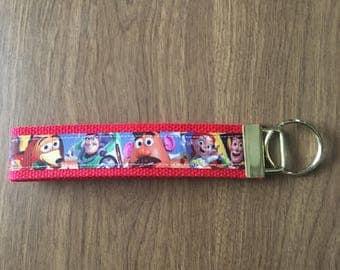 Toy Story Key Chain Zipper Pull Wristlet