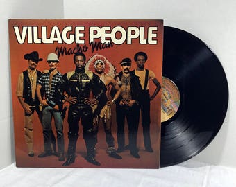 Village People Macho Man vinyl record 1978 VG+/EX