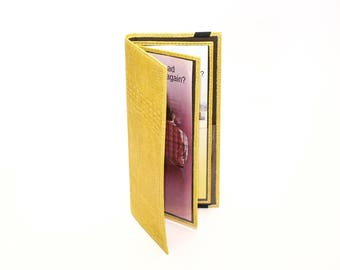 Yellow Tract Holder for Jehovah's Witnesses - Leather Service Items