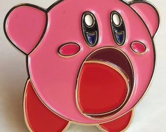 Om-nom Kirby pin
