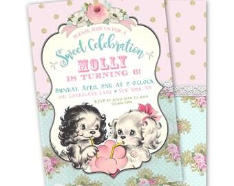 Dog Birthday Invitation, Puppy Birthday Party Invitations, Birthday invitations dog, Puppy Theme Birthday Party Invites, Puppy Dog Invite