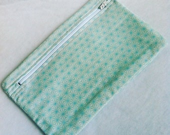 sea green and white multi-use case geometric