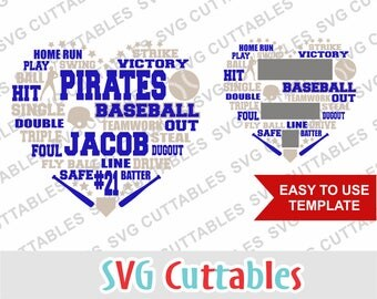 Baseball svg, Baseball Subway Art SVG, DXF, EPS, Baseball cut file, Baseball heart, Silhouette file, Cricut cut file, Digital download