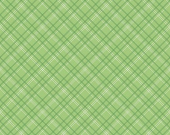Calico Days C6036Calico Green Plaid by Lori Holt for Riley Blake Fabrics.