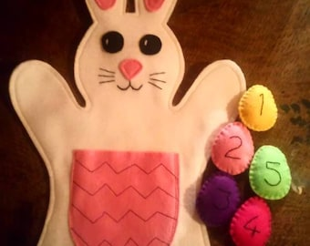 Easter / spring counting bunny hand puppet
