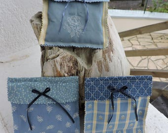 PILLOWS OF LAVENDER FABRIC FROM PROVENCE (SET OF 3)