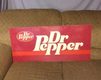 22% Sale Through Aug 21st Vintage Dr Pepper Advertising Sign Store Display Soda Soft Drink Dr. Pepper Advertising