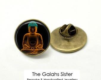 BUDDHA Badge • Meditating Buddha • Thai Buddha • Praying Buddha • Gift for a Buddhist • Brooch/Lapel Pin • Made in Australia (B0455)