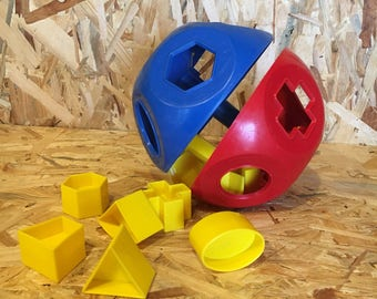 Vintage Tupperware Toy Puzzle Ball