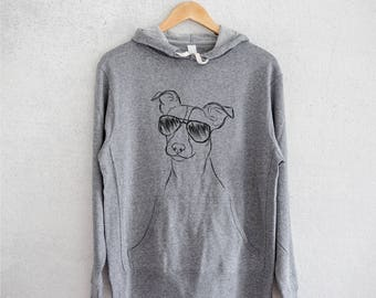 Max the Jack Russell Terrier - Grey French Terry - Unisex Slim Fit