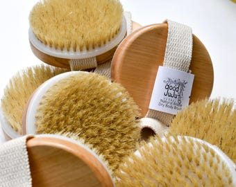 Natural Body Brush, Dry body brush, Dry brush, Bath Brush, Body Brush