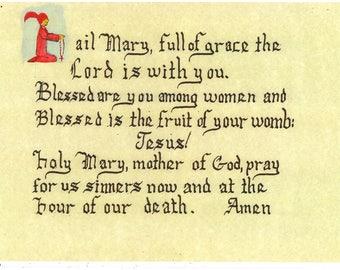 "The ""Hail Mary"" prayer"