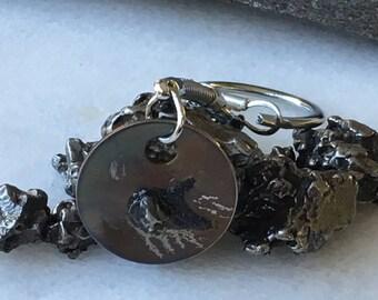 6th anniversary iron - Meteorite Keychain