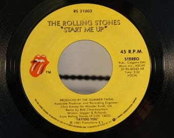 The Rolling Stones 1981 Promotional 45 Start Me Up/Start Me Up on their own label Cat. No. RS 21003