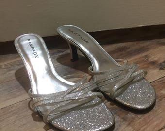Rampage glitter heels