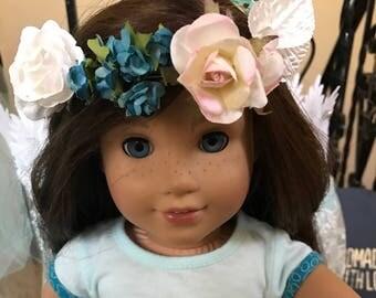 American Girl doll party favor frozen larty favor diy flower crown kit  Flower headband halo kit Party favor princess party girls flower gir