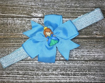 Princess bow on adjustable headband