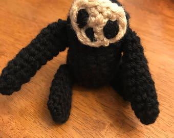 Baby sloths crocheted