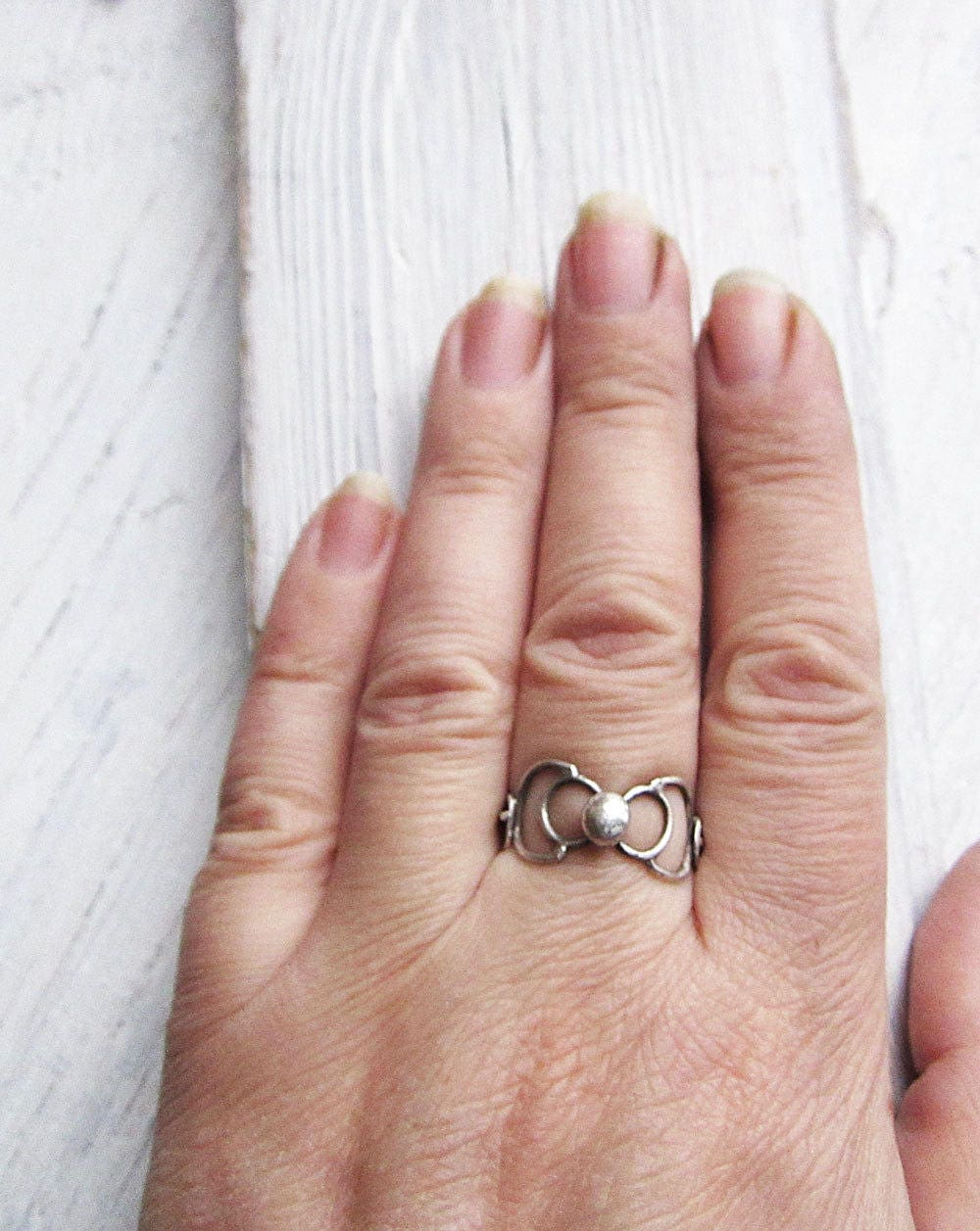 STERLING SILVER RING Statement Ring Boho Rustic Ring Every Day Rring ...