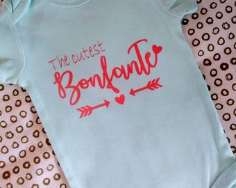 The cutest.. Custome name baby onesie/ bodysuit mint color