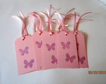 Pink BUTTERFLY GIFT TAGS Pink and Purple Gift tags