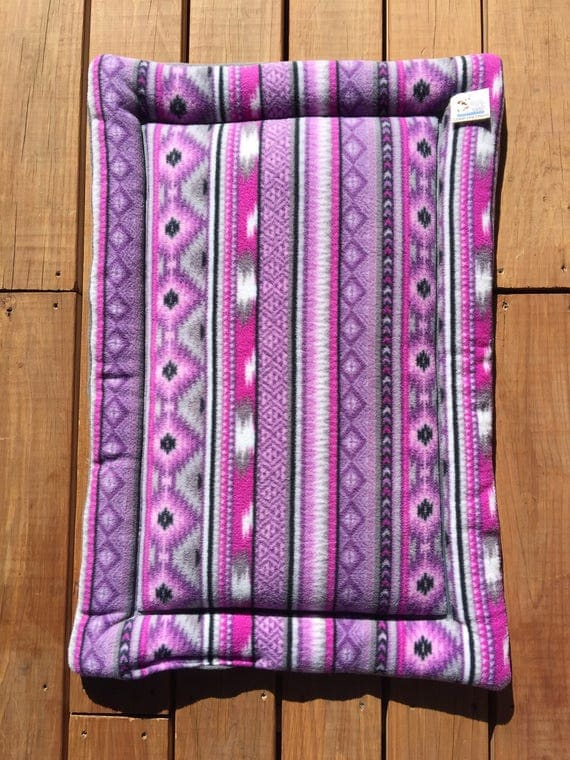 Purple Dog Bed, Southwestern Decor, Dog Crate Pad, Aztec Bedding, Cat Carrier Pad, Cat Bed, Puppy Bedding, Medium Crate Pad, Fleece Beds
