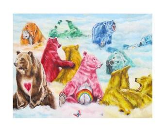 The Care Bears / Carebears Art Print (Unframed)