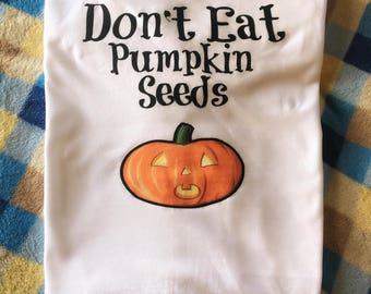 funny pregnant tee, pregnant shirt, maternity top, pumpkin seeds, pumpkin shirt, baby announcement, prego announcement, ways to annouce preg