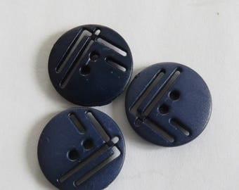 Pretty dark blue vintage button