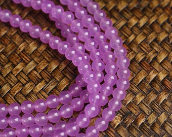 "Round Purple Chalcedony Beads Volet Chalcedony Crystal Ball Bead Wholesale 4mm 6mm 8mm 10mm 12mm Beads 15"" Strand"