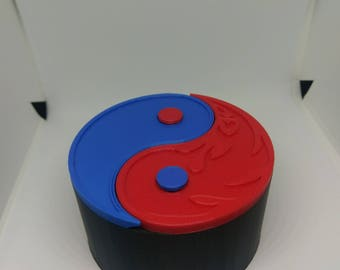 Yin Yang Dice Box | DND | Dungeon Master| Dice Roller | Dungeons and Dragons | RPG | Tabletop Gaming