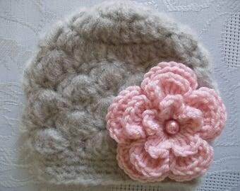 Crochet baby hat, newborn girl hat, newborn outfit, baby girl hat, girl newborn hat, crochet newborn hat, girl hospital hat, newborn hat