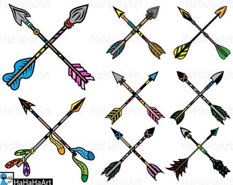 Cross Native Arrows - Clipart / Cutting Files svg png jpg dxf studio3 digital graphic design Instant Download Commercial Use native 01089c