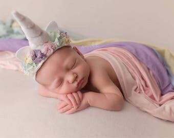 Unicorn horn and wrap set