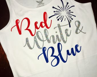 Red, White and Blue Tank