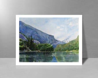 Morning on Lake - original watercolor painting