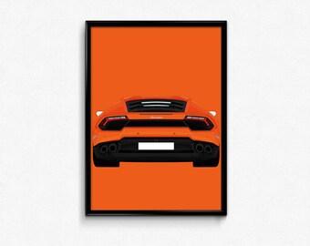 Lamborghini Huracan A3 Print