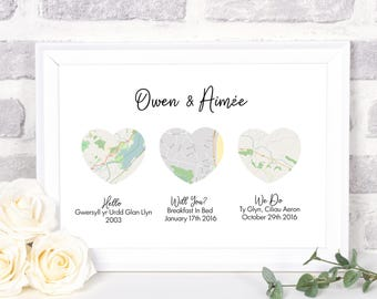 Newlywed Christmas Gift Newly Wed Gifts Print