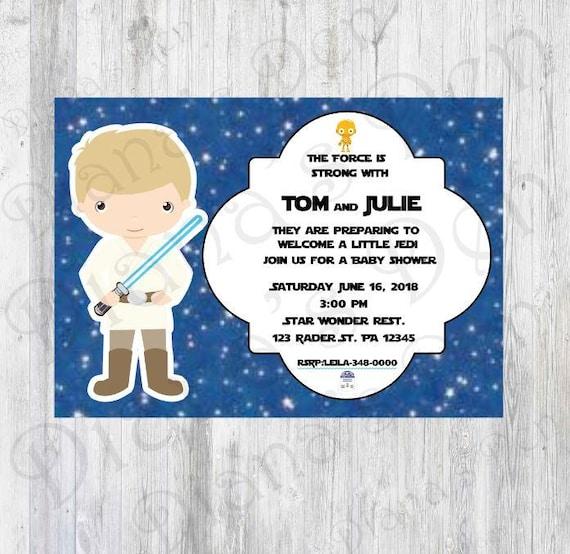 Star Wars Baby Shower InvitationStar War Baby ShowerStar Wars