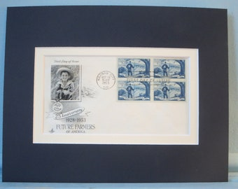 Honoring the Future Farmers of America  & First Day Cover of their own stamp