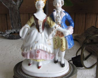 French Provincial Ceramic Lamp Vintage Boudoir Home Décor and Lighting