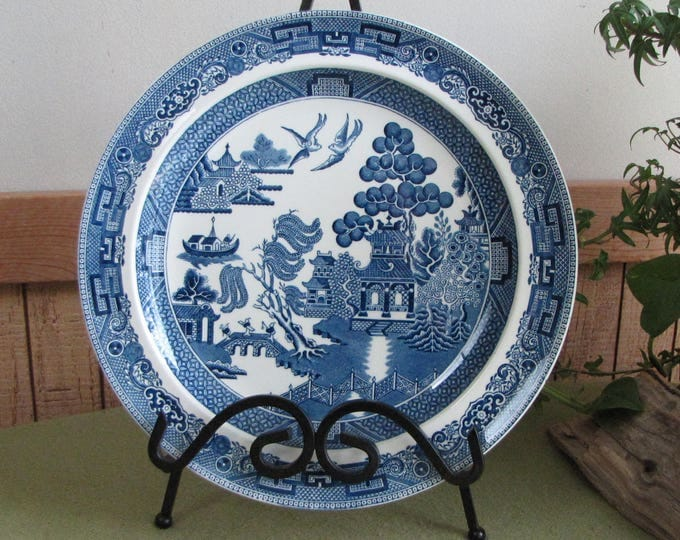 Wedgwood Blue Willow Ware Dinner Plate Blue and White Kitchens Vintage Dinnerware and Replacements