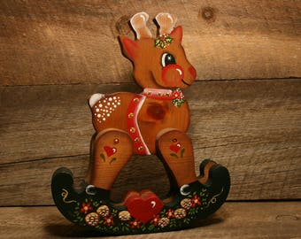 tole painted reindeer