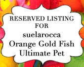 RESERVED LISTING for suelarocca Orange Gold Fish Ultimate Pet, Fish in a bag, vegan.