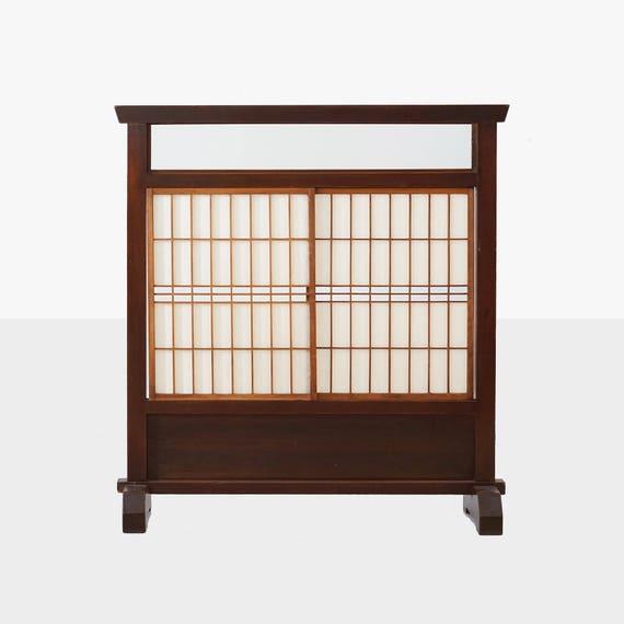 vintage japanese shoji screen, japanese screen, asian shoji screen, japanese shoji screen, shoji room divider, japanese tea screen, tea
