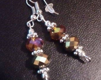 Crystal drop long earrings