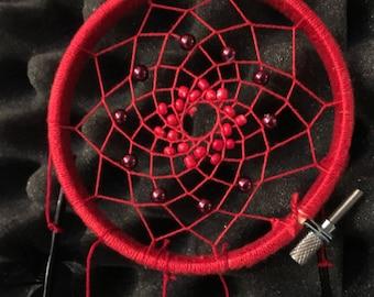 Red and Black Handmade Dream Catcher
