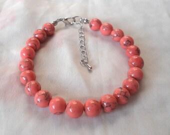 Pink  Pearl Bracelet,   Bracelet, Wedding Jewelry,   Jewelry,Bridesmaid Bracelet,Bridesmaid pink Bracelet,Wedding Bracelet,